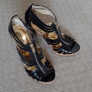 Michael Kors Strappy Cork Bottom Heels